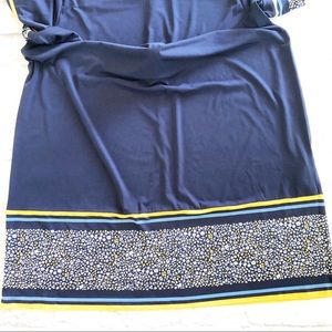 MICHAEL Michael Kors Dresses - Michael Kors navy yellow floral short sleeve dress